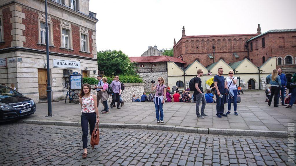 Казимеж. Краков. Площадь перед Старой Синагогой.