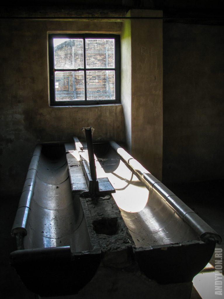 Санблок в бараке концлагеря Биркенау