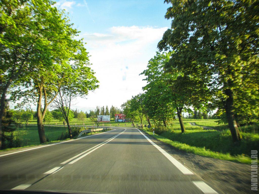 Дорога в Закопане Польша