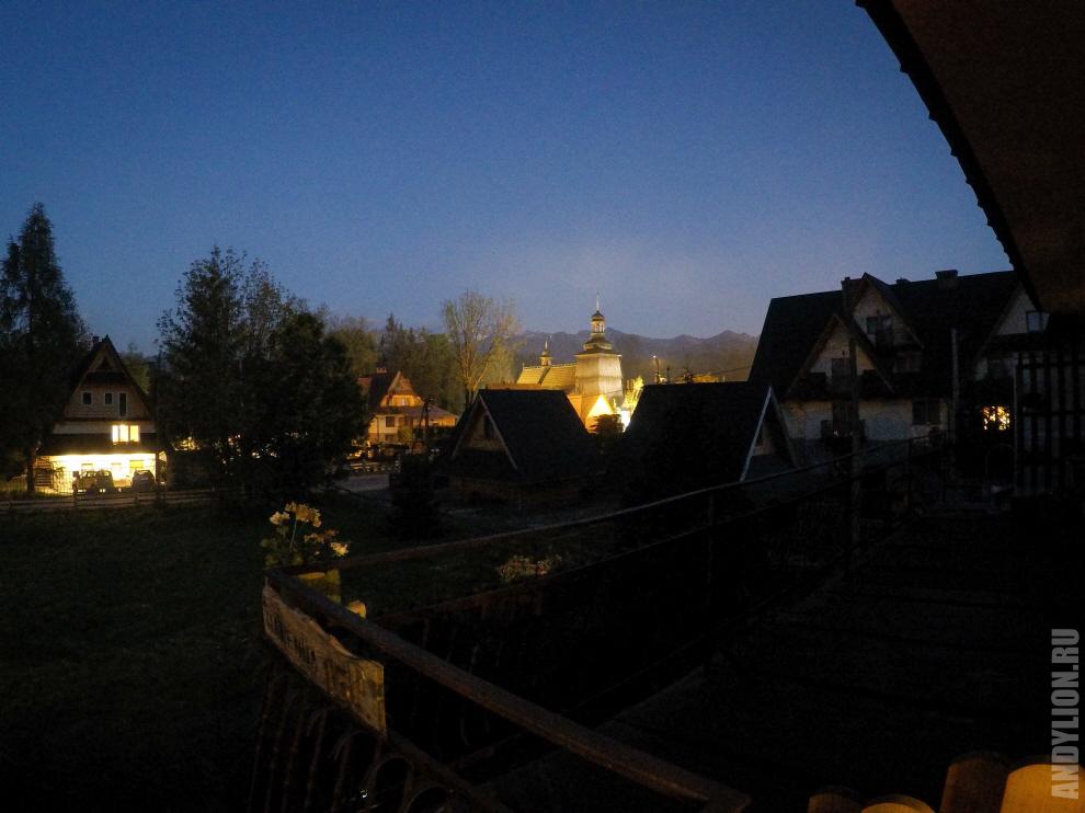 Вид с балкона. Pokoje Gościnne U Babci. Закопане.