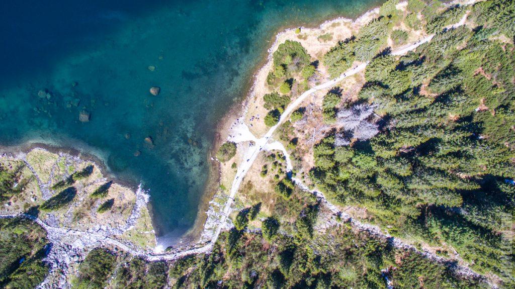 Морское Око. Вид с квадрокоптера.