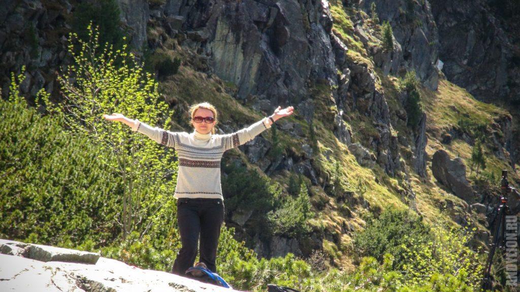 Аня на фоне Высоких Татр
