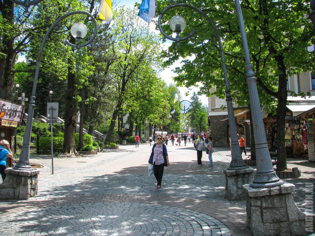 Улица Круповки в Закопане