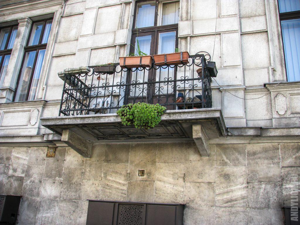 Типичный будапештский балкон