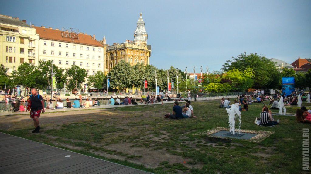Парк на площади Эржебет