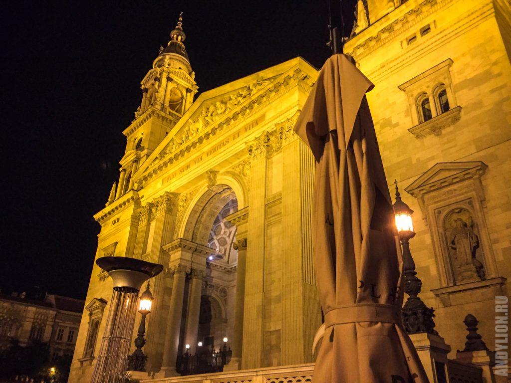 Собор св.Иштвана ночью