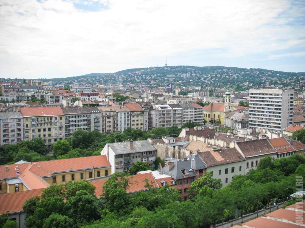 Жилые районы Будапешта за Будайским холмом