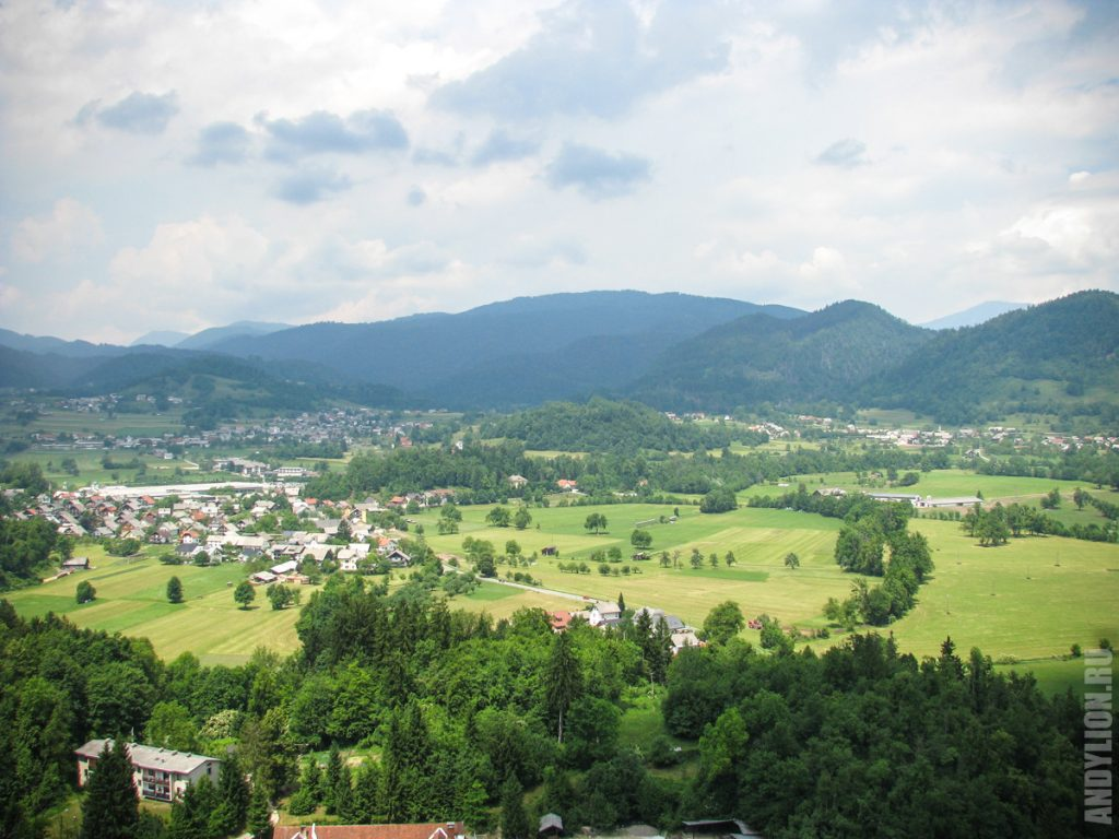 Словенские пейзажи из Бледского замка