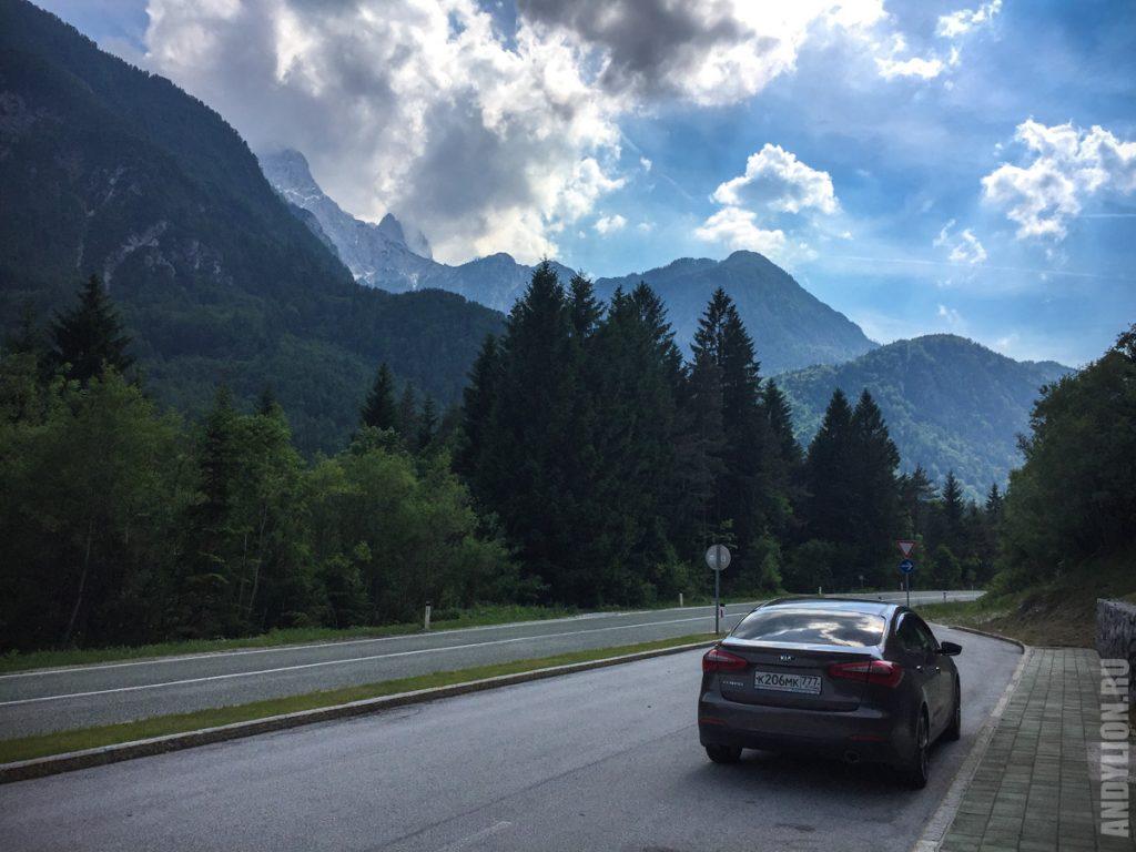 По пути из Словении в Италию