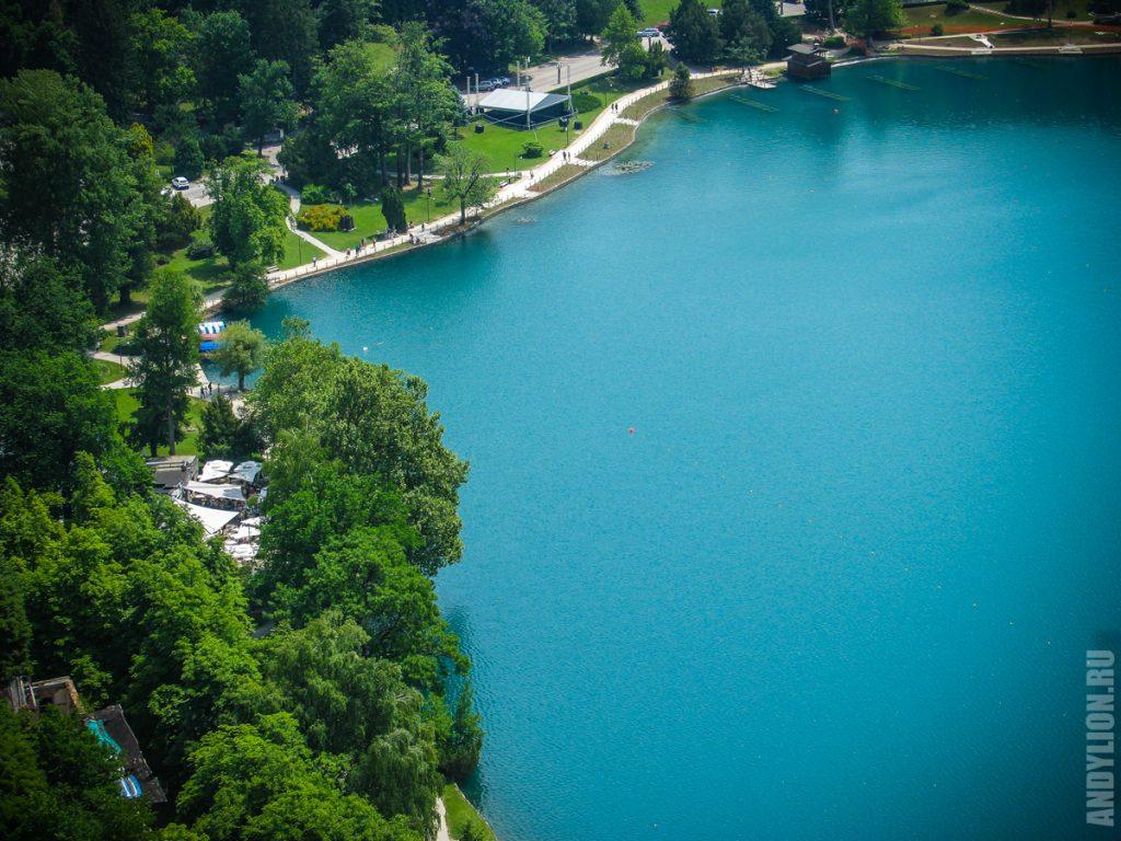 Восточная часть озера Блед