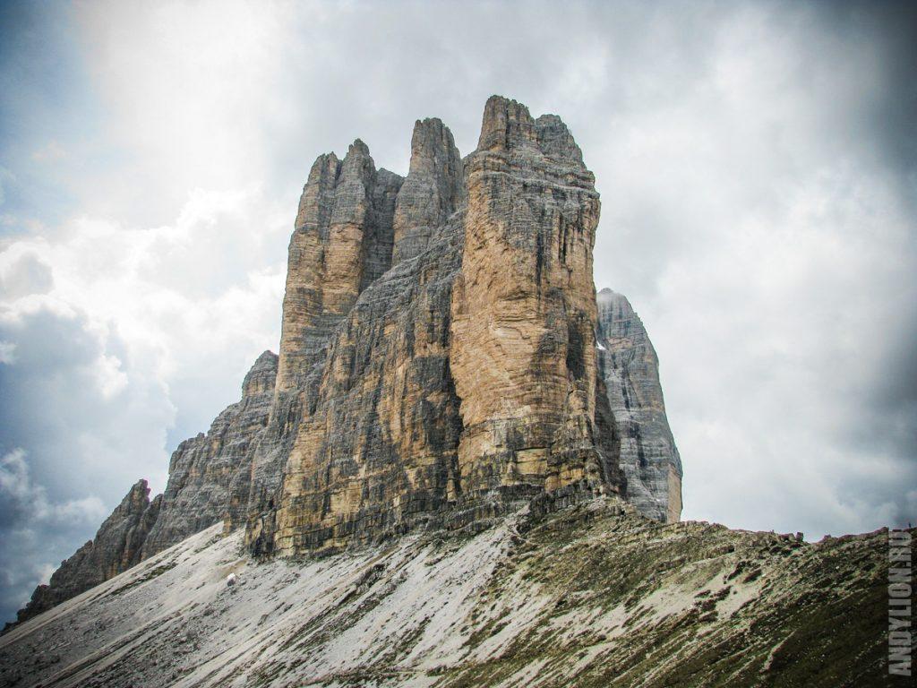 Три вершины Лаваредо. Вид с востока.