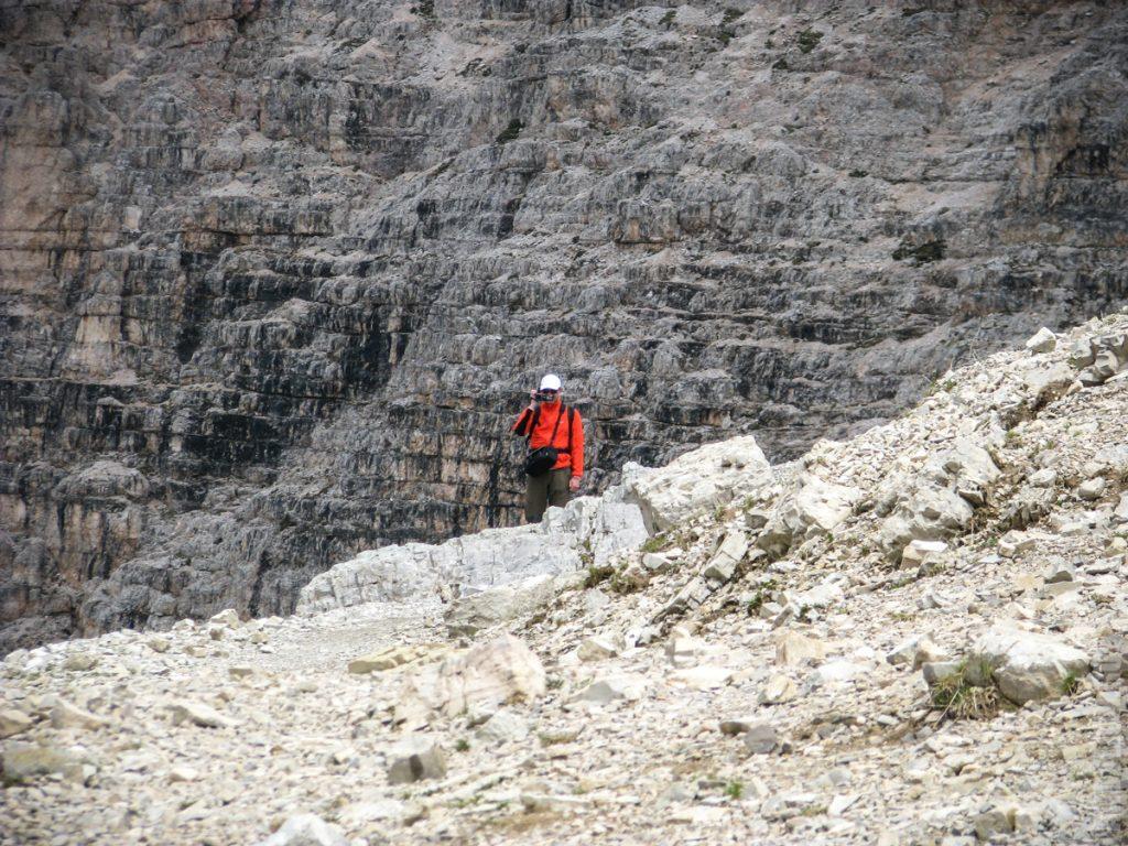 Андрей на фоне стены Патернкофель