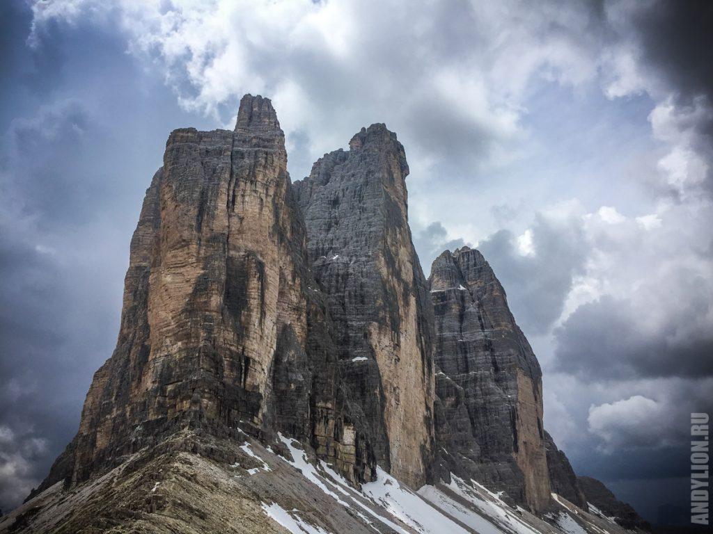 Tre Cime di Lavaredo. Вид с восточного гребня.