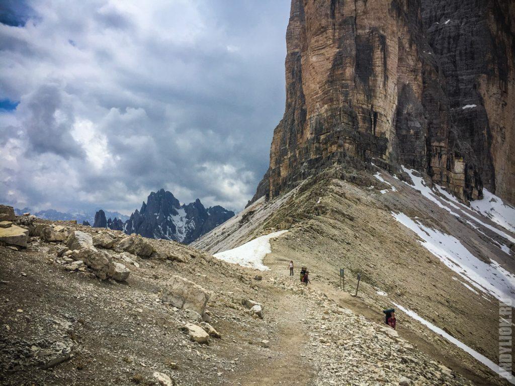 Восточный гребень Трех вершин Лаваредо