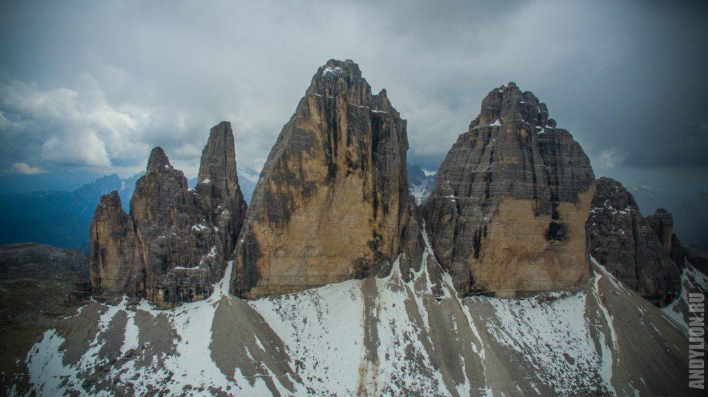 Cima Piccola. Cima Grande. Cima Ovesta. (слева направо)