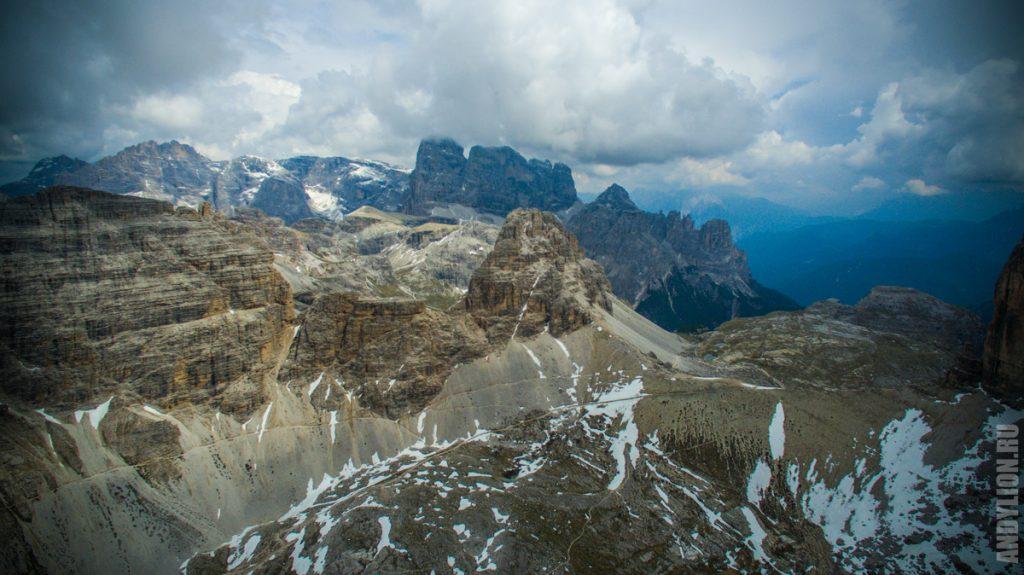 Доломитовые Альпы с квадрокоптера