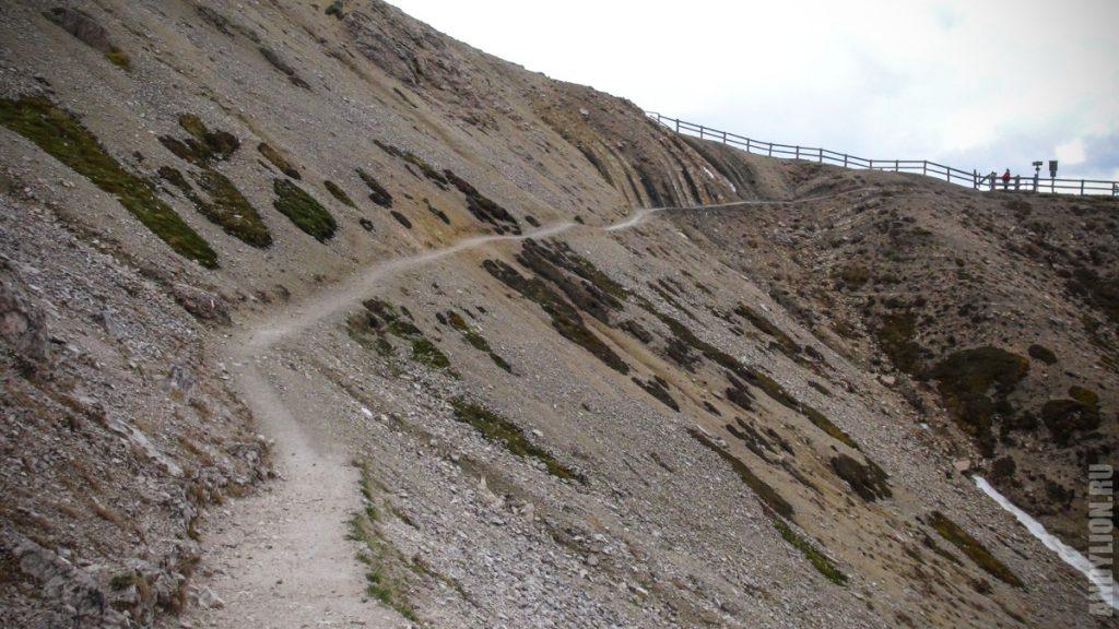 Траверс к западному гребню Тре Чиме