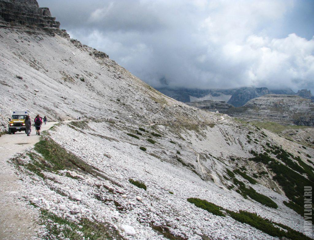 Начало 101 маршрута вокруг вершин Тре Чиме