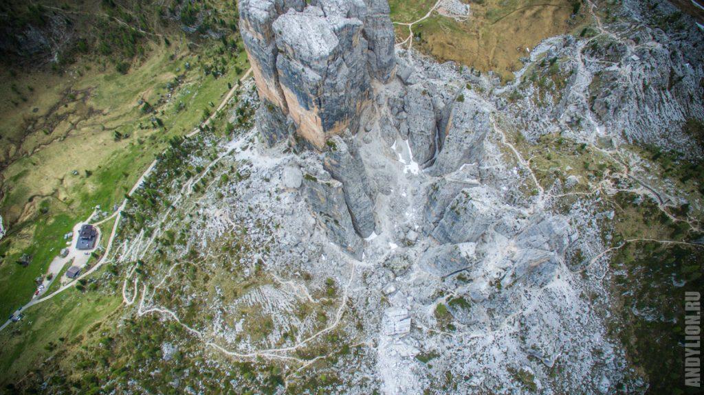 Cinque Torri. Dolomites.