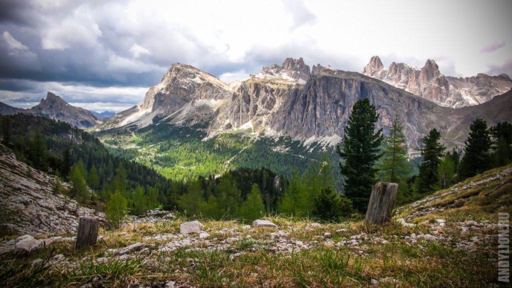 Доломитовые Альпы близ Кортина-д'Ампеццо