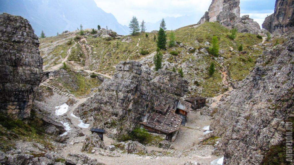 Строения времен Первой мировой войны в Доломитовых Альпах