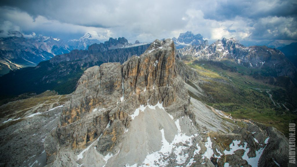 Averau mountain. Dolomites.