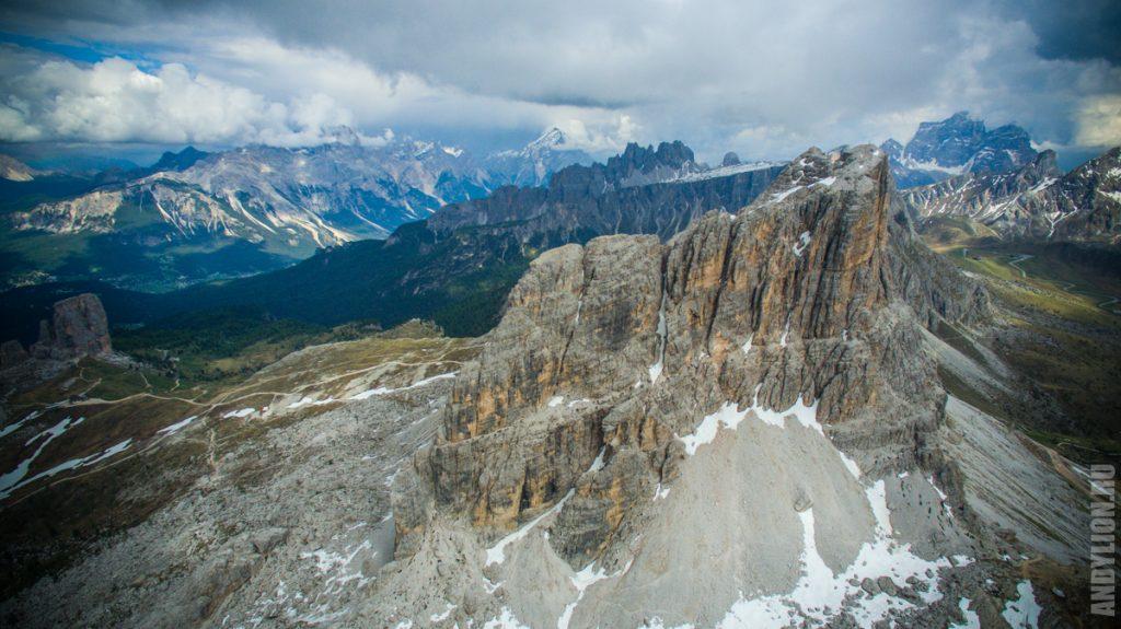 Averau mountain. Dolomites.