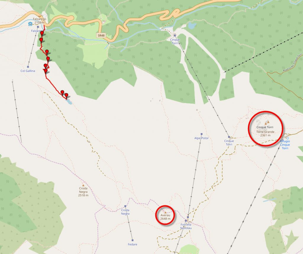Трек на озеро Лимидес. Карта-схема.