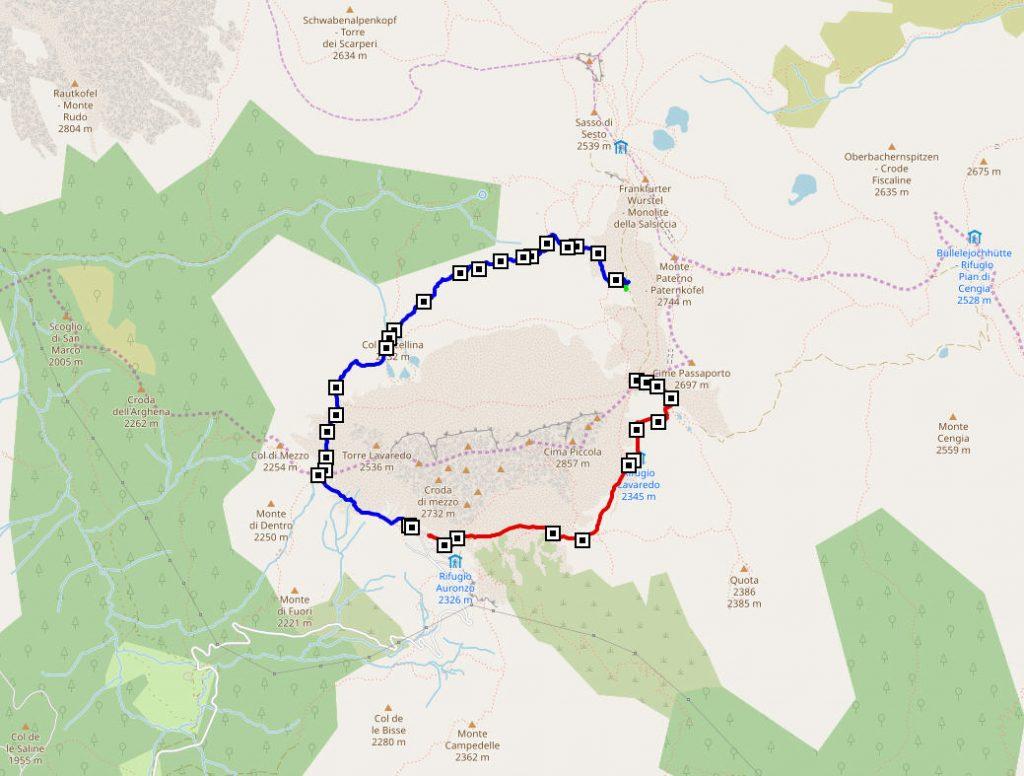 Трек 8км вокруг Тре Чиме ди Лаваредо