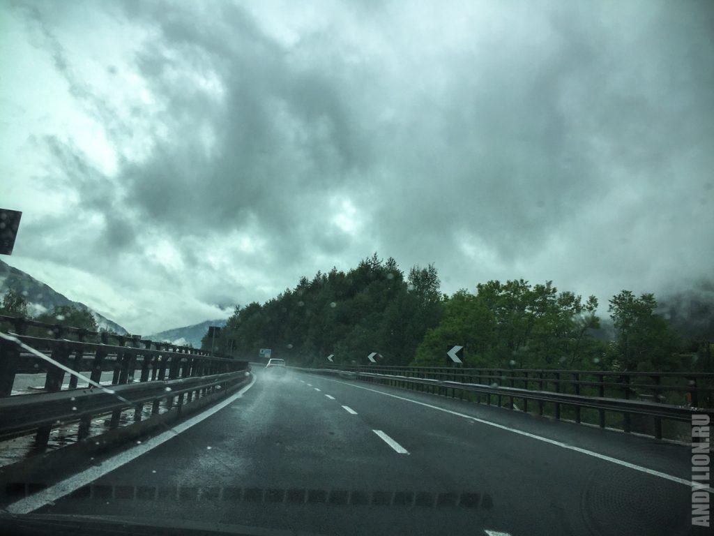 По альпийским автобанам