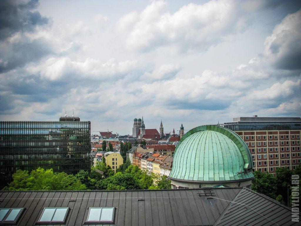 Вид на Мюнхен из Немецкого музея