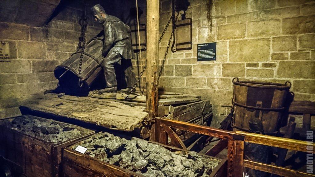 Добыча угля. Немецкий музей.