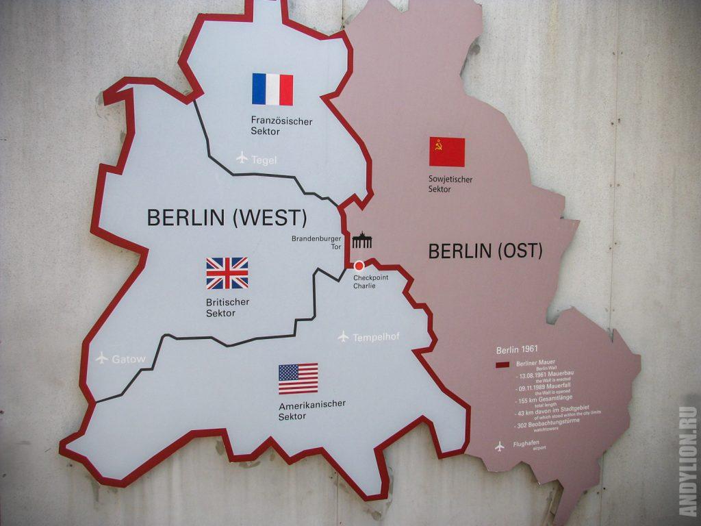 Деление Берлина по секторам