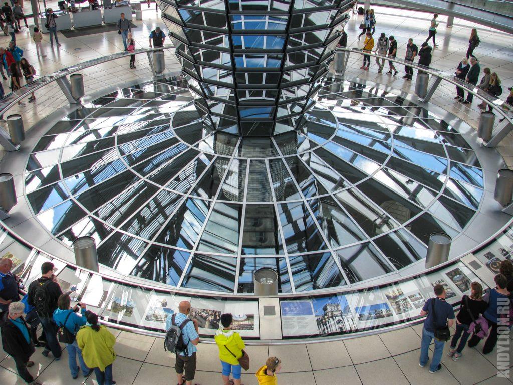 Внутри купола над Рейхстагом