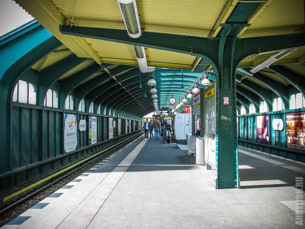 Станция метро Schonhauser Allee. Берлин.