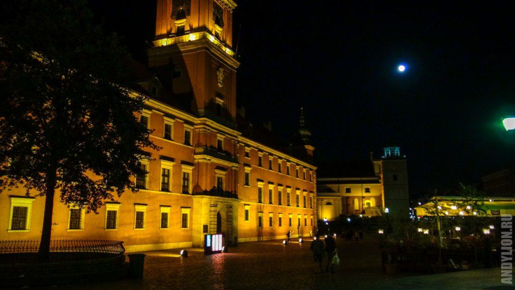 Королевский Замок ночью