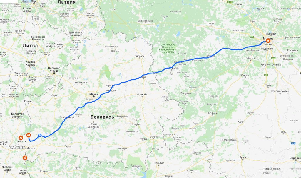 Евротур #3. В Европу на машине. Каменюки-Москва.