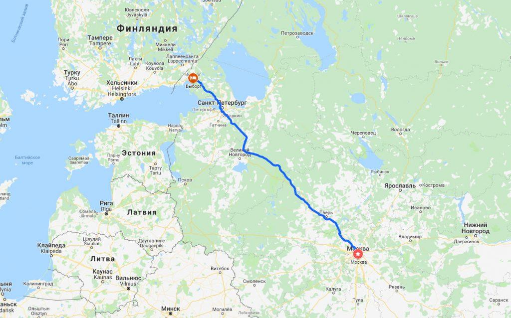Москва-Выборг через М11