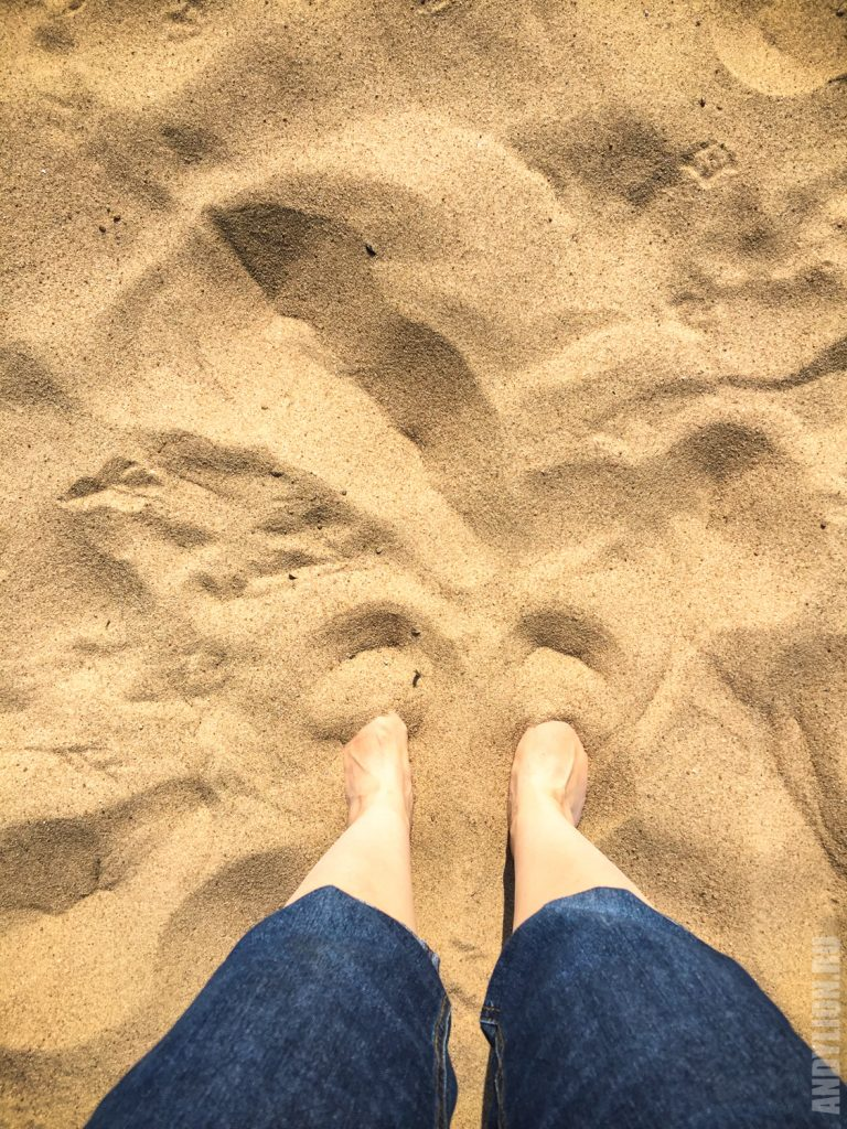 Песочный пляж в Санкт-Петербурге
