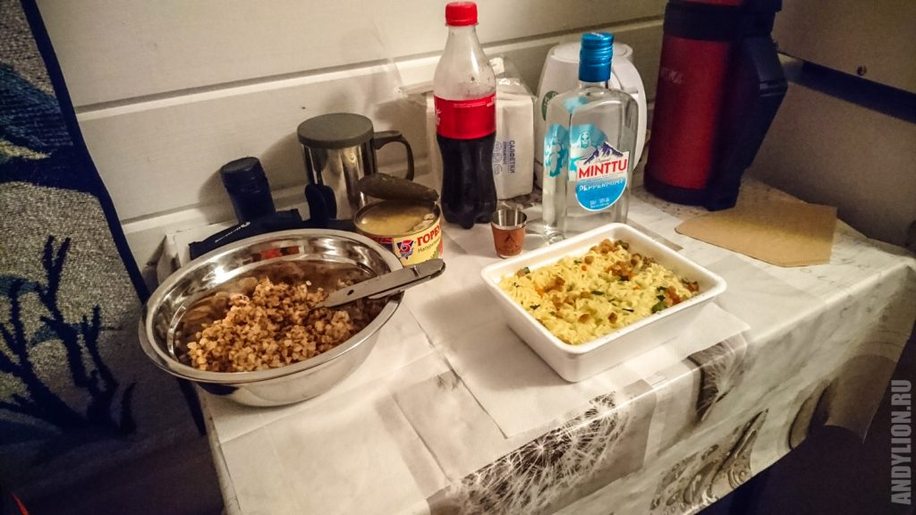 Ужин с гречкой, дошираком и Minttu