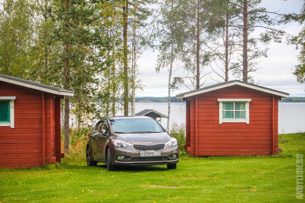 Маленькие коттеджи в кемпинге Small cabins in Ristijarven Pirtti Camping