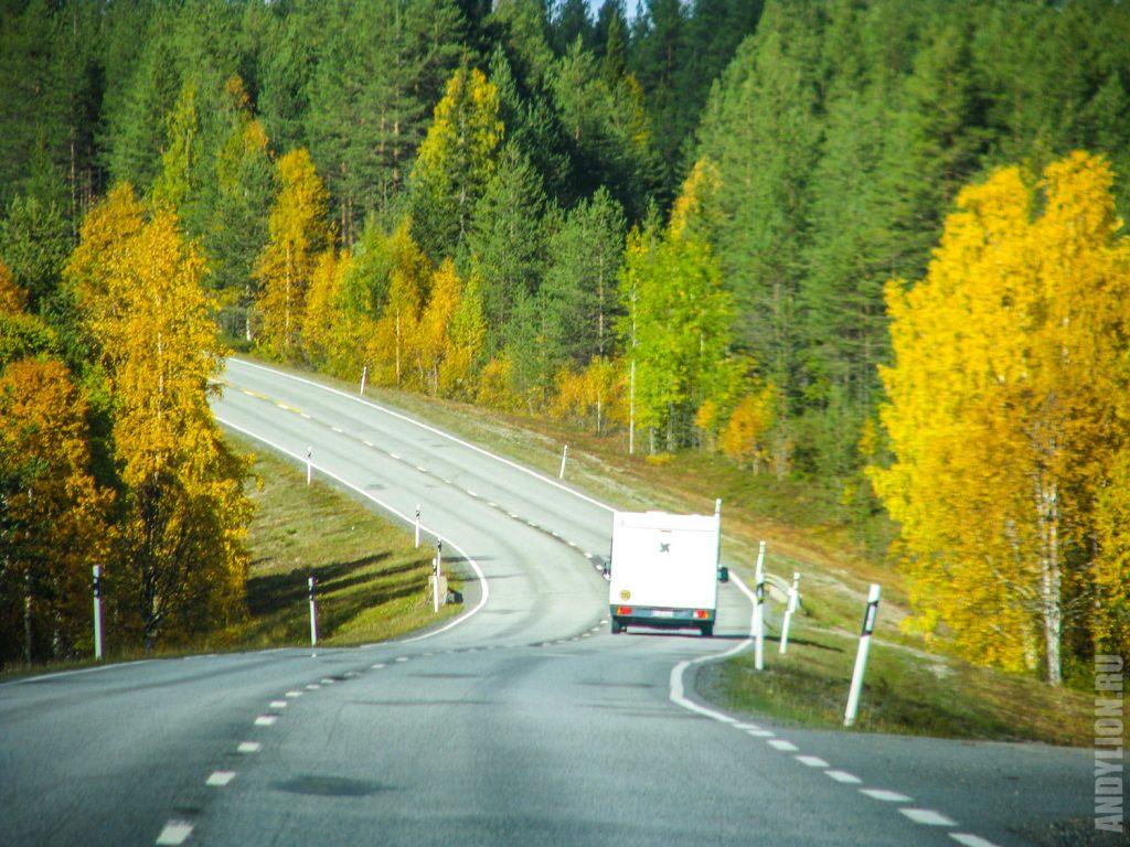 Осенняя дорога в Финляндии