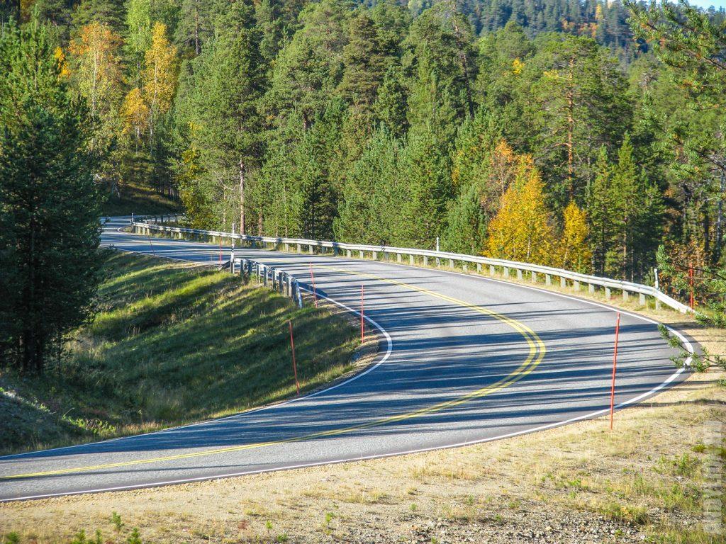 Дорога в финской Лапландии