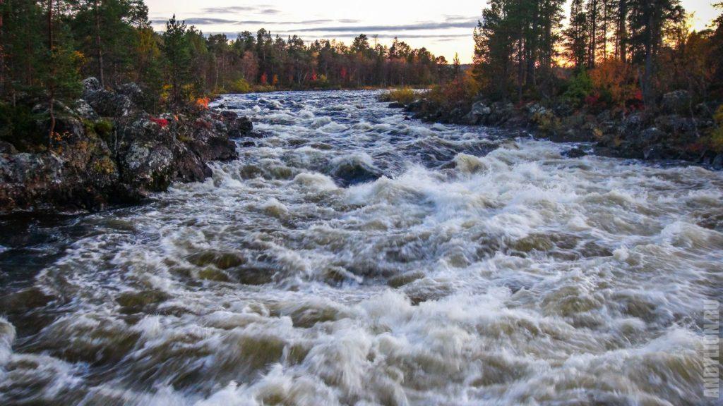 Бурные пороги реки Juutuanjoki
