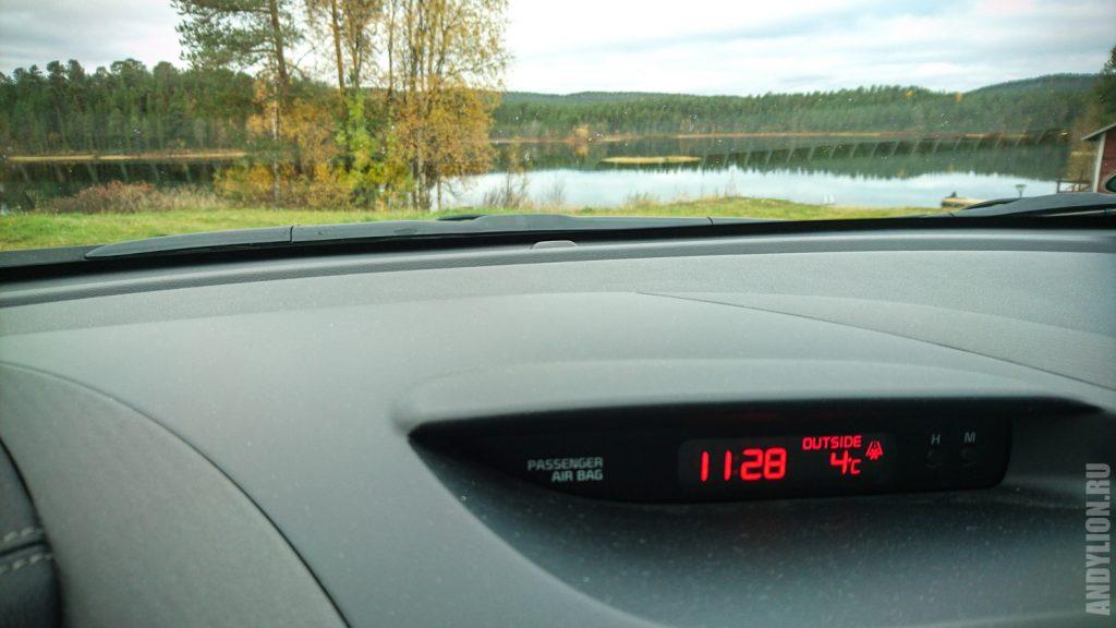 Температура 19 сентября в парке Лемменйоки