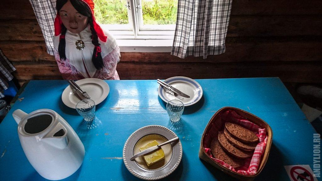 Жилище саамов и саамская женщина