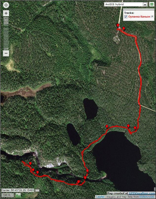 Трек озеро Савилампи - Каньон Оуланка