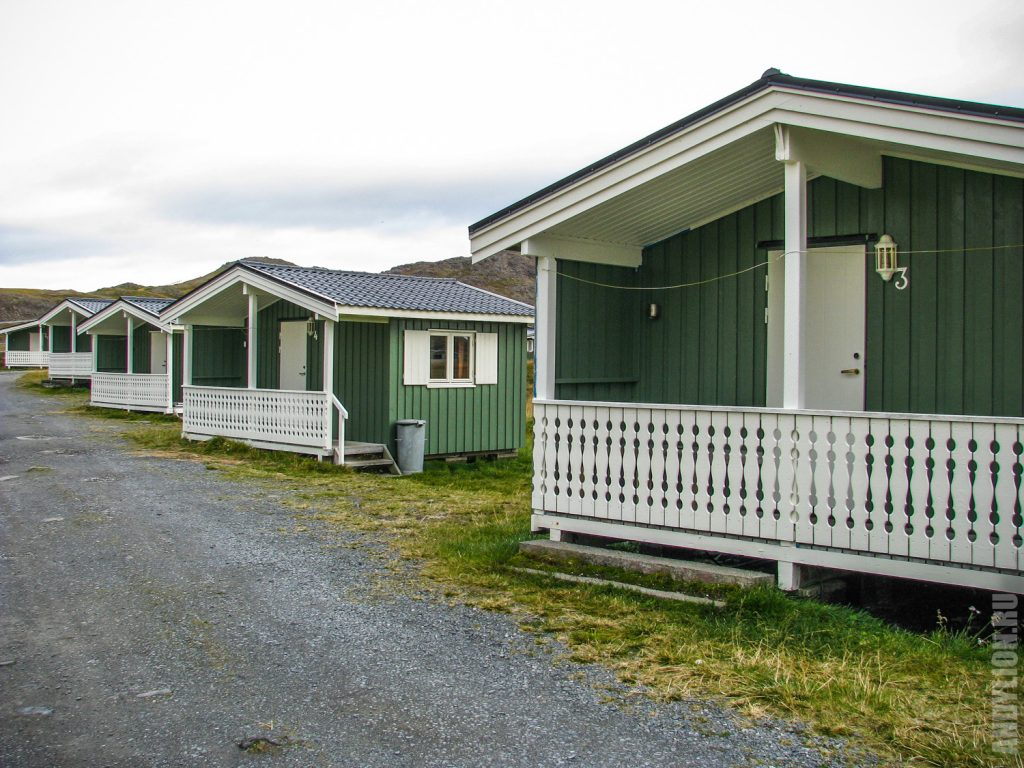 Nordkapp Camping. Коттеджи эконом.