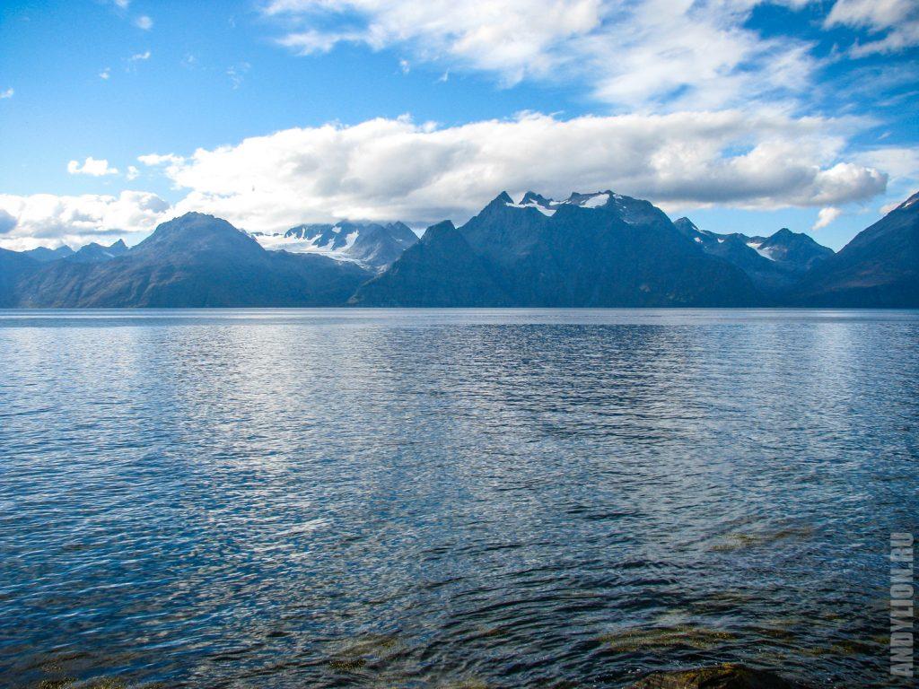 Горные ландшафты Северной Норвегии. Тромс.